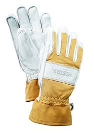 Hestra Mens And Womens Ski Gloves Guide Leather Winter Glove With Wool Lining