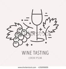 stock vector logo or label wine tasting line style logotype template with wine tasting elements easy to use 435899899 degustation stock photos, royalty free images & vectors shutterstock on science abstract template