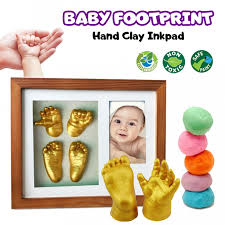prado creative diy clay 3d baby hand footprint kit wt photo frame toys toys babies mummies