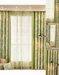 country blackout and thermal green leaf window curtains for living room