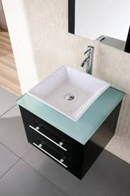 24 portland dec071c g wall mount single vessel sink vanity with glass top