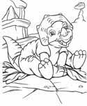 Small Picture Land Before Time Coloring Pages