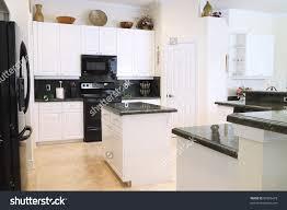 Upscale Kitchen Appliances View Beautiful Modern Kitchen Upscale Appliances Stock Photo