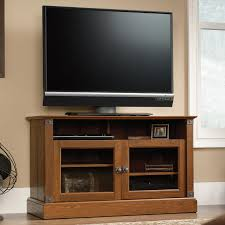 Sauder Tv Cabinet Sauder Carson Forge Rustic Style Panel Tv Stand With Industrial