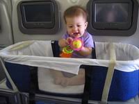 Try to reserve the bassinet on the airplane