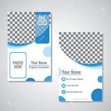 Business Id Template Business Vertical Identity Card Template Vector Design With Blue