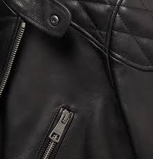 burberry brit men leather biker jacket