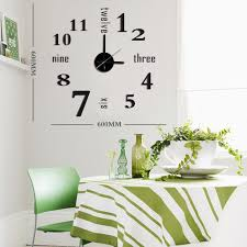 mocka diy wall clockwall clock black decor