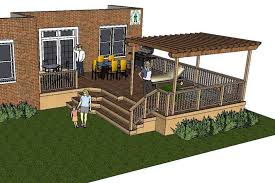 large deck with a pergola and hot tub plans r78
