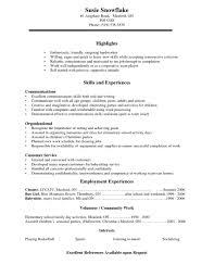 Simple Student Job Resume Examples Svoboda2 Com