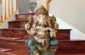 antique handcrafted wooden 3 ft tall large ganesha statue desiclik com usa