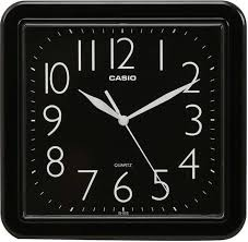 casio square shape ogue wall clock