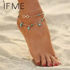 IF ME Fashion Bohemian <b>Infinity Anklet</b> Women Created Stones ...
