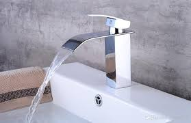 2019 waterfall style brass deck mount bathroom faucet vanity vessel sinks mixer waterfall faucets tap from dragon136 69 35 dhgate com