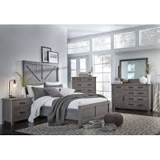 gray king bedroom sets. gray rustic contemporary 6 piece king bedroom set - austin sets a