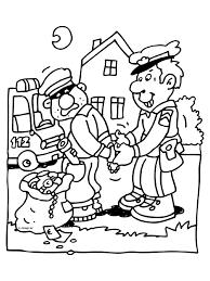 Kleurplaat Politieagent Boef Arrestatie Kleurplatennl