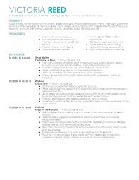 Catering Server Resume Inspiration Resume Objective For Server Resume Objective Examples Restaurant