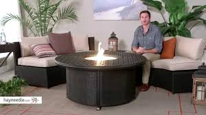 weave round propane fire pit with wicker base review
