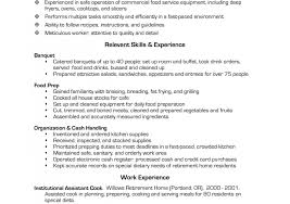 Cook Resume Example Cook Resume Examples Pastry Cook Resume Line