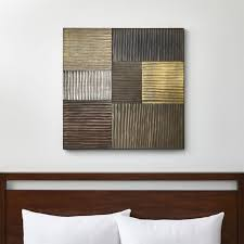 district metallic wall art on 3 piece canvas wall art canada with wall art wood metal and fabric designs crate and barrel