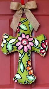 cross door hanger burlap and flower by on diy wooden cross door hanger