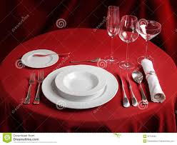 Setting A Dinner Table Dinner Table Setting Stock Photos Image 357643