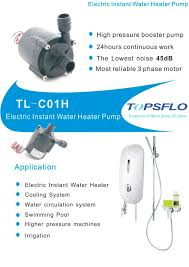 Heater Pump Tl C01h Electric Instant Water Heater Pump Topsflo Industry And