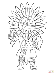 American Indian Girl Coloring Pages For Kids With Native Americans