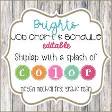 First Grade Job Chart Job Chart Class Schedule With Bright Bunting And Shiplap