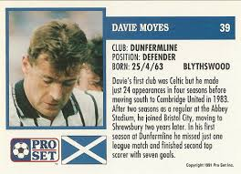 New manchester united manager david moyes has shed some light on why many believe he is the during his playing days at dunfermline, he would drive to england to observe a match on his day off. Scotsfootycards That David Moyes Card