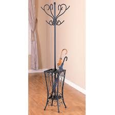 Black Coat Rack Stand Inspiration Shop Metal Black Coat Rack With Umbrella Stand Free Shipping Today