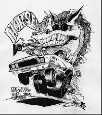 Small Picture Coloring Download Rat Fink Coloring Pages Rat Fink Coloring