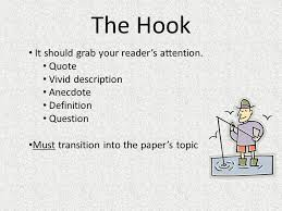 english how to write a good essay ppt  the hook it should grab your reader s attention quote