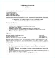 Federal Government Resume Format Interesting Federal Resume Format Igniteresumes