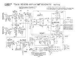 fender amp schematics fender twin reverb aa769 schematic