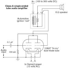 vacuum tube audio amplifier discrete semiconductor circuits schematic diagram