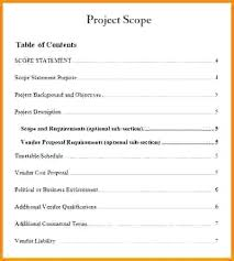 Project Scope Template Cashier Resume Management Statement Examples ...