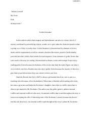 compareandcontrastessay duplessis katelyn duplessis mrs perry 3 pages gothic literature