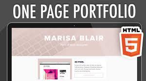 How To Code A Stylish Portfolio Design In Html Css One Page Portfolio Website Html5 Part 1 Xo Pixel