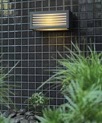 Outdoor Lighting Tucson Tucson 1 Light Louvre Exterior Wall Bracket In Charcoal