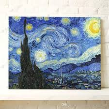 van gogh oil painting starry night impression painting home decoration painting handpainted painting on canvas famous painting modern art oil painting