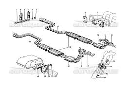 Ferrari 275 gtb4 exhaust pipes assembly page 010 order online 061 010 101497