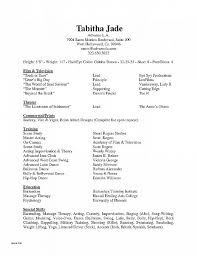 Acting Resume Format From Resume Highlights Examples Good Employment