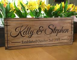 rustic wood sign personalized distressed carved name sign rustic barn wedding sign personalized wedding gift last name wood sign
