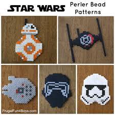 Star Wars Perler Bead Patterns Magnificent Star Wars Perler Bead Patterns The Force Awakens Frugal Fun For