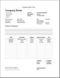 Expense Claim Forms Rome Fontanacountryinn Com