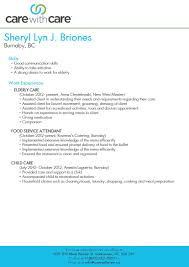Caregiver Resume Sample Ideas of Senior Caregiver Resume Sample With Service Gallery 60