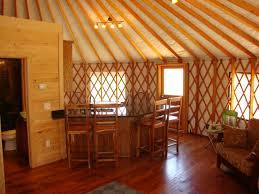 Kitchen And Bathroom Yurt Interiors Dining Area With Kitchen And Bathroom Yurts