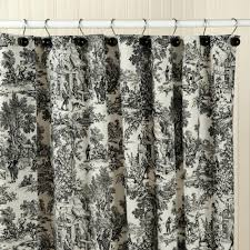 toile shower curtain de jouy curtains uk sage green waverly black and white toile shower curtain
