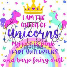 Queen Of Unicorns Inspirational Design Unicorn Gift Unicorn Lover